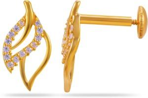 6506c9e22a0fb Joyalukkas Yellow Gold 22kt Stud EarringYellow Gold Plated