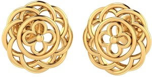 P.N.Gadgil Jewellers Floral Cluster Yellow Gold 22kt Stud Earring