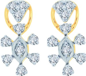 a76232f569b7db Kalyan Jewellers Fancy Yellow Gold 18kt Diamond Stud Earring Yellow ...