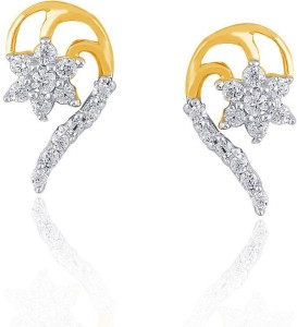 Nakshatra Designer Yellow Gold 18kt Diamond Stud Earring