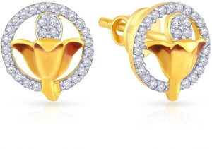 9761a0420 Malabar Gold and Diamonds Yellow Gold 22kt Cubic Zirconia Stud Earring Best  Price in India | Malabar Gold and Diamonds Yellow Gold 22kt Cubic Zirconia  Stud ...
