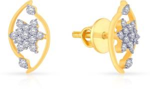 71bf374e9c67e Malabar Gold and Diamonds PER1241 Yellow Gold 18kt Diamond Stud Earring