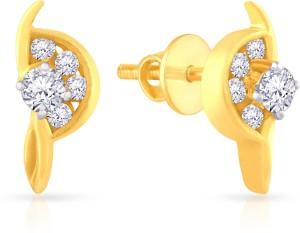 Malabar Gold And Diamonds Yellow 18kt Diamond Stud Earring