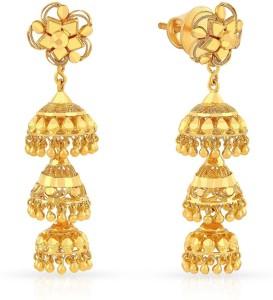 1aacec2cc Malabar Gold and Diamonds MHAAAAABDZTL Yellow Gold 22kt Jhumki Earring Best  Price in India | Malabar Gold and Diamonds MHAAAAABDZTL Yellow Gold 22kt  Jhumki ...