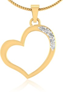 IskiUski Crunchy Heart 14kt Swarovski Crystal Yellow Gold Pendant