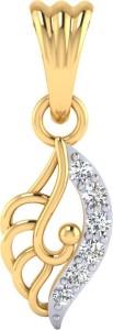 Samaira Gems 14K Gold and Diamond Pendant 14kt Diamond Yellow Gold Pendant