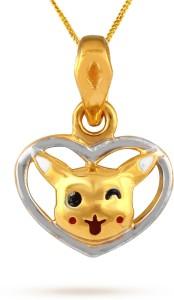 TBZ TheOriginal Lovely Pikachu 22kt Yellow Gold Pendant
