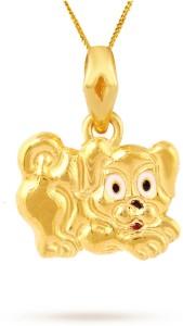 TBZ TheOriginal Cute Puppy 22kt Yellow Gold Pendant