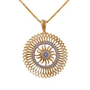 Joyalukkas pride diamond collection pendant 18kt yellow gold pendant joyalukkas pride diamond collection pendant 18kt yellow gold pendant aloadofball Images