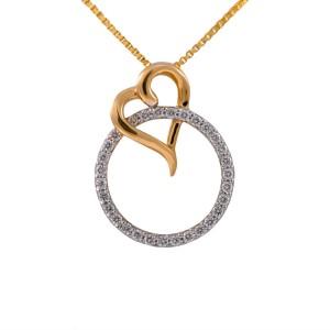 Joyalukkas pride diamond collection pendant 18kt yellow gold pendant joyalukkas pride diamond collection pendant 18kt yellow gold pendant mozeypictures Images