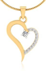IskiUski My Heart 14kt Swarovski Crystal Yellow Gold Pendant