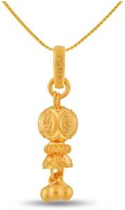 P.N.Gadgil Jewellers Designer Gold Ball 22kt Yellow Gold Pendant