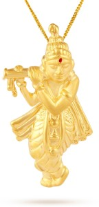 TBZ TheOriginal Lord Shree Krishna 22kt Yellow Gold Pendant