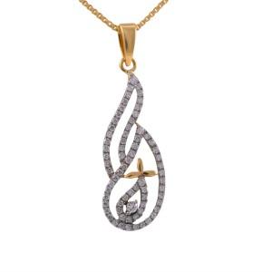 Joyalukkas pride diamond collection pendant 18kt yellow gold pendant joyalukkas pride diamond collection pendant 18kt yellow gold pendant aloadofball Gallery