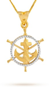 TBZ TheOriginal Anchor 22kt Yellow Gold Pendant