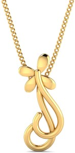 P.N.Gadgil Jewellers Radiant Floral 22kt Yellow Gold Pendant