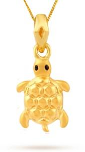 TBZ TheOriginal Tortoise 22kt Yellow Gold Pendant