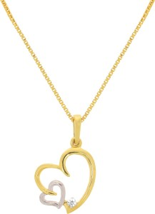 Joyalukkas pride diamond collection 18kt yellow gold pendant rhodium joyalukkas pride diamond collection 18kt yellow gold pendant aloadofball Images