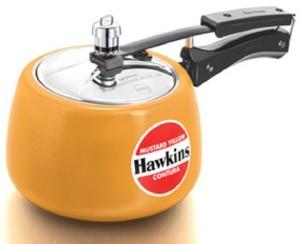 Hawkins Contura Mustard Yellow 3 L Pressure Cooker