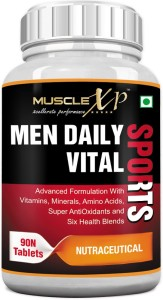 MuscleXP MultiVitamin Men Daily Sports with 49 Nutrients (6 Health Blends & Amino Acids)