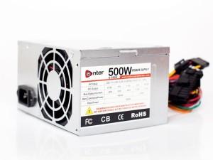 Enter COMPUTER POWER SUPPLY 500W MODEL 500 Watts PSU Silver Best ...