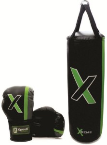 Xpeed Combo of Punching Gloves with Bag Hanging Bag