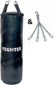 Fighter SYNTHETIC LEATHER PUNCHING BAG WITH CHAIN Hanging Bag