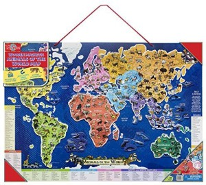 T s shure animals of the world wooden magnetic map puzzle 1 pieces ts shure animals of the world wooden magnetic map puzzle gumiabroncs Images