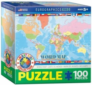 EuroGraphics World Map for Kids Jigsaw Puzzle 100 Piece Best Price ...