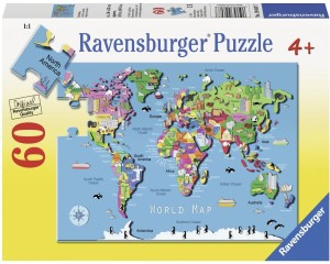 Ravensburger world map puzzle 60 pieces best price in india ravensburger world map puzzle gumiabroncs Choice Image