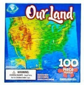 Dalmatian Press Land Usa Map Puzzle 100 Pieces Best Price in India ...