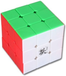wholesale sales official photos dirt cheap Dayan Zhanchi 3X3X3 6 Color Stickerless Speed Cube White1 Pieces