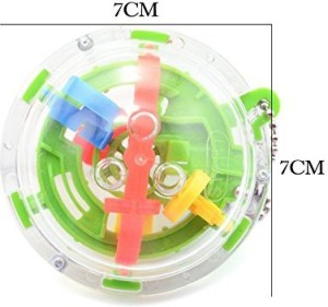 Iltoy Mini 3D Maze Globe Intellect Ball Intelligent Exploitation Puzzle  Game (36 Steps Colors Vary)1 Pieces