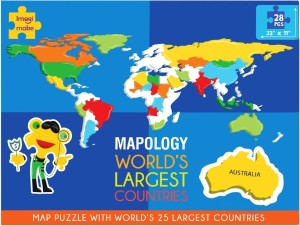Imagimake mapology world s largest countries 28 pieces best price in imagimake mapology worlds largest countries gumiabroncs Choice Image