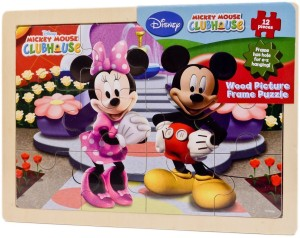 Disney Mickey Mouse Clubhouse Wood Picture Frame Puzzle 12 Pieces