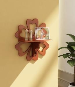 Home Sparkle Carved Shelf MDF Wall Shelf