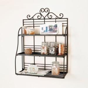 Home Sparkle Kitchen Rack Steel Wall Shelf