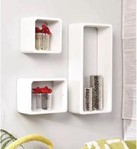 Onlineshoppee Cube MDF Wall Shelf