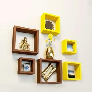 DriftingWood Square Wooden Wall Shelf