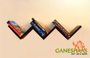 Ganeshaas W Shaped Zig Zag GHWS025ARose MDF Wall Shelf