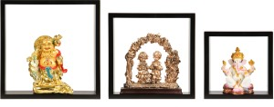 Safal Set Of 3 Wall Shelves Wooden Wall Shelf