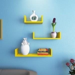 Onlineshoppee Afr990 Wooden Wall Shelf