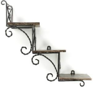 VAS Collection Home Wooden, Iron Wall Shelf