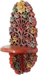 JaipurCrafts Decorative Jharokha Wooden Wall Shelf