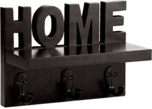 Decorhand Home Key Holder Wooden Wall Shelf
