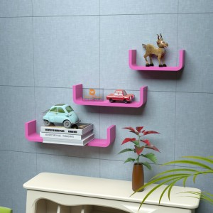 DriftingWood U Shape Wooden Wall Shelf