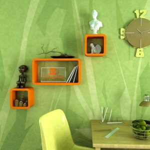 DriftingWood Cube & Rectangle Wooden Wall Shelf