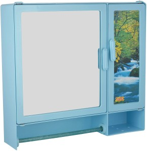 Zoom Zoom Butterfly Rod Plastic Mirror Storage Chest (40.6 cm x 10.2 cm x 43.2 cm,... Plastic Wall Shelf