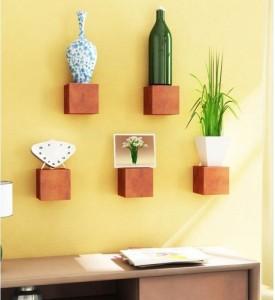 Onlineshoppee Beautiful Design Wooden Wall Shelf