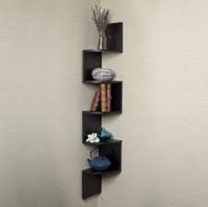 Wallz Art Zigzag MDF Wall Shelf